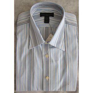 Express - Dress Shirt - Blue/White - L (16-16.5)